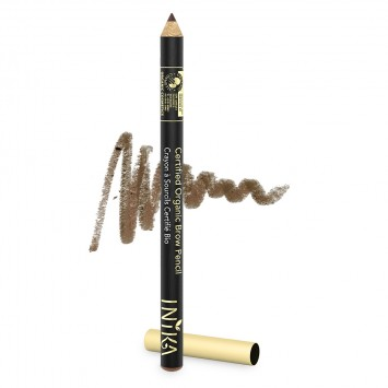 INIKA Organic Certified Organic Brow Pencil - Brunette Beauty