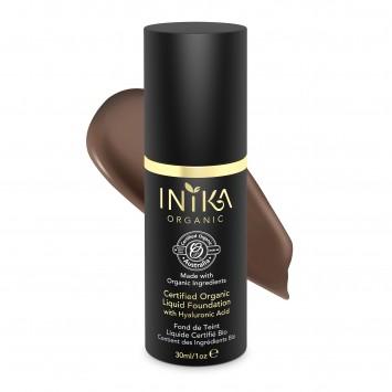 INIKA Organic Certified Organic Liquid Foundation with Hyaluronic Acid - Cocoa 30ml
