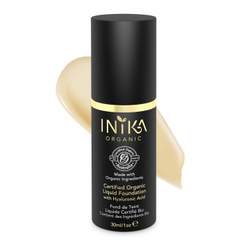 INIKA Organic Certified Organic Liquid Foundation with Hyaluronic Acid - Cream 30ml