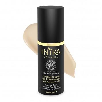 INIKA Organic Certified Organic Liquid Foundation with Hyaluronic Acid - Nude 30ml
