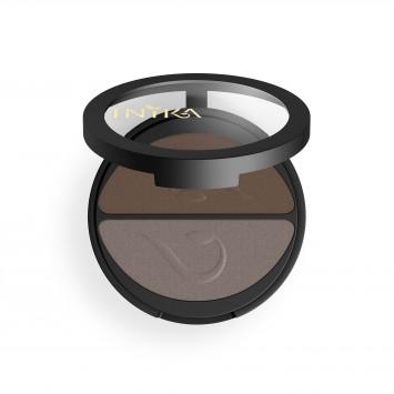 INIKA Organic Pressed Mineral Eye Shadow Duo - Choc Coffee