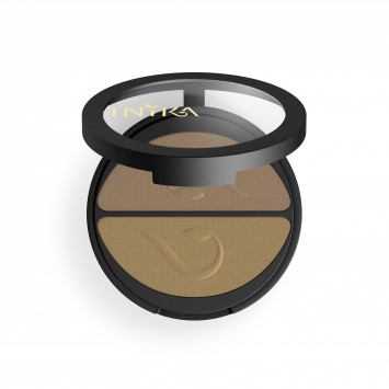 INIKA Organic Pressed Mineral Eye Shadow Duo - Gold Oyster