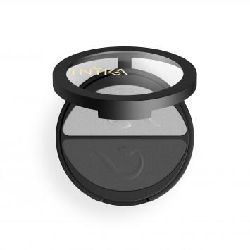 INIKA Organic Pressed Mineral Eye Shadow Duo - Platinum Steel