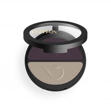 INIKA Organic Pressed Mineral Eye Shadow Duo - Plum & Pearl