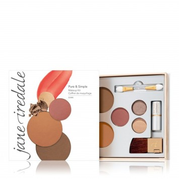 Jane Iredale Pure and Simple Kit Dark - Warm Brown