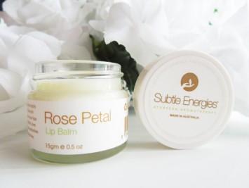 Subtle Energies Rose Petal Vegan Lip Balm 15gm